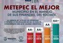 ES METEPEC EL MEJOR MUNICIPIO DE LA ENTIDAD EN FINANZAS